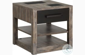 River Rock Siltstone End Table