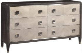 City Chic Modern Oak 6 Drawer Dresser