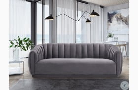 Arno Grey Velvet Sofa