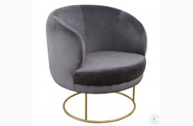 Bella Grey Velvet Chair