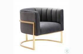 Magnolia Grey Velvet Chair