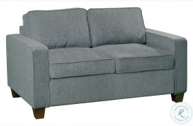 Cityscape Grey Casual Modern Upholstered Loveseat