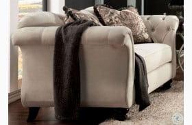 Antoinette Beige Premium Fabric Loveseat