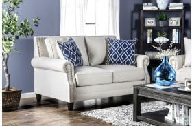Giovanni Beige Loveseat