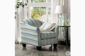 River Turquoise Accent Chair