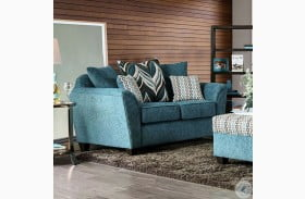 River Turquoise Loveseat