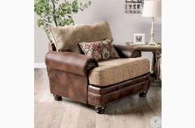 Fletcher Brown and Tan Chair