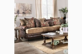 Fletcher Brown and Tan Sofa