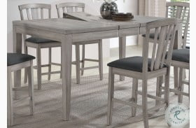 Summer Winds White And Gray Extendable Counter Height Leg Dining Table