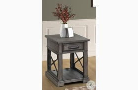 Sundance Smokey Gray Chairside End Table