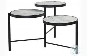 Plannore Black And White Coffee Table