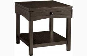 Haddigan Brown Rectangular End Table