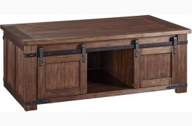 Budmore Brown Rectangular Cocktail Table