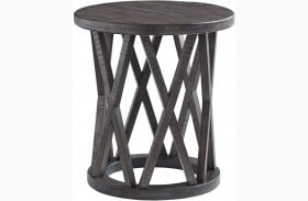 Sharzane Grayish Brown Round End Table