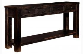 Gavelston Black Sofa Table
