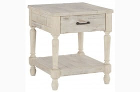 Shawnalore White Rectangular End Table