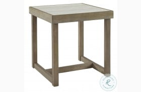 Challene Light Gray End Table