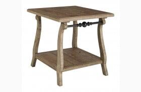 Dazzelton Two Tone Rectangular End Table