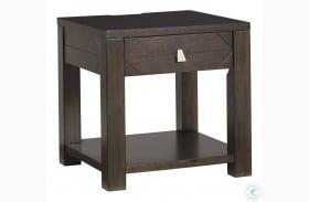 Tariland Dark Grayish Brown End Table