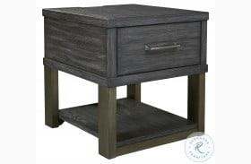 Forleeza Dark Gray End Table