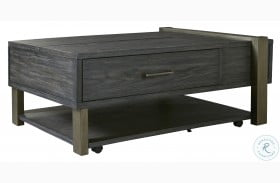 Forleeza Dark Gray Lift Top Coffee Table