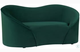 Poodle Forest Green Pet Bed