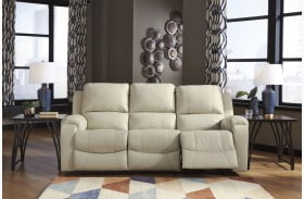 Rackingburg Cream Power Reclining Sofa