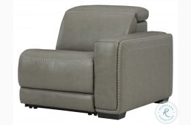 Correze Gray Leather RAF Power Recliner