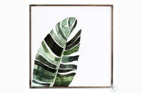 Art Studio Black Washed Maple Banana Leaf Wall Art