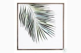 Art Studio Black Washed Maple Palm Wall Art