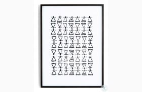 Art Studio Black Washed Maple Symbol Pattern Wall Art
