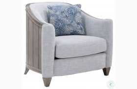 Summer Creek Scrubbed Oak Upholstered Bodie Blue Chair