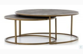 Bentley Antique Brass Nesting Coffee Table