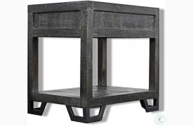 Veracruz Rustic Charcoal Chairside End Table