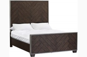Modern Authentics Dark Oak Queen Panel Bed