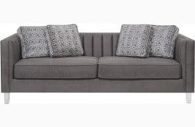City Chic Acrylic Leg Iron Channeled Sofa