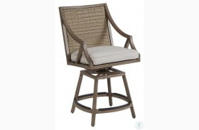 Summer Creek Outdoor Pampas Adjustable Swivel Gathering Stool