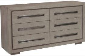 True Modern Natural Taupe 6 Drawer Dresser