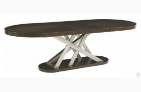 Prossimo Marrone And Bronze Metallic Auguri Extendable Oval Dining Table