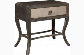 City Chic Modern Oak Leg Nightstand