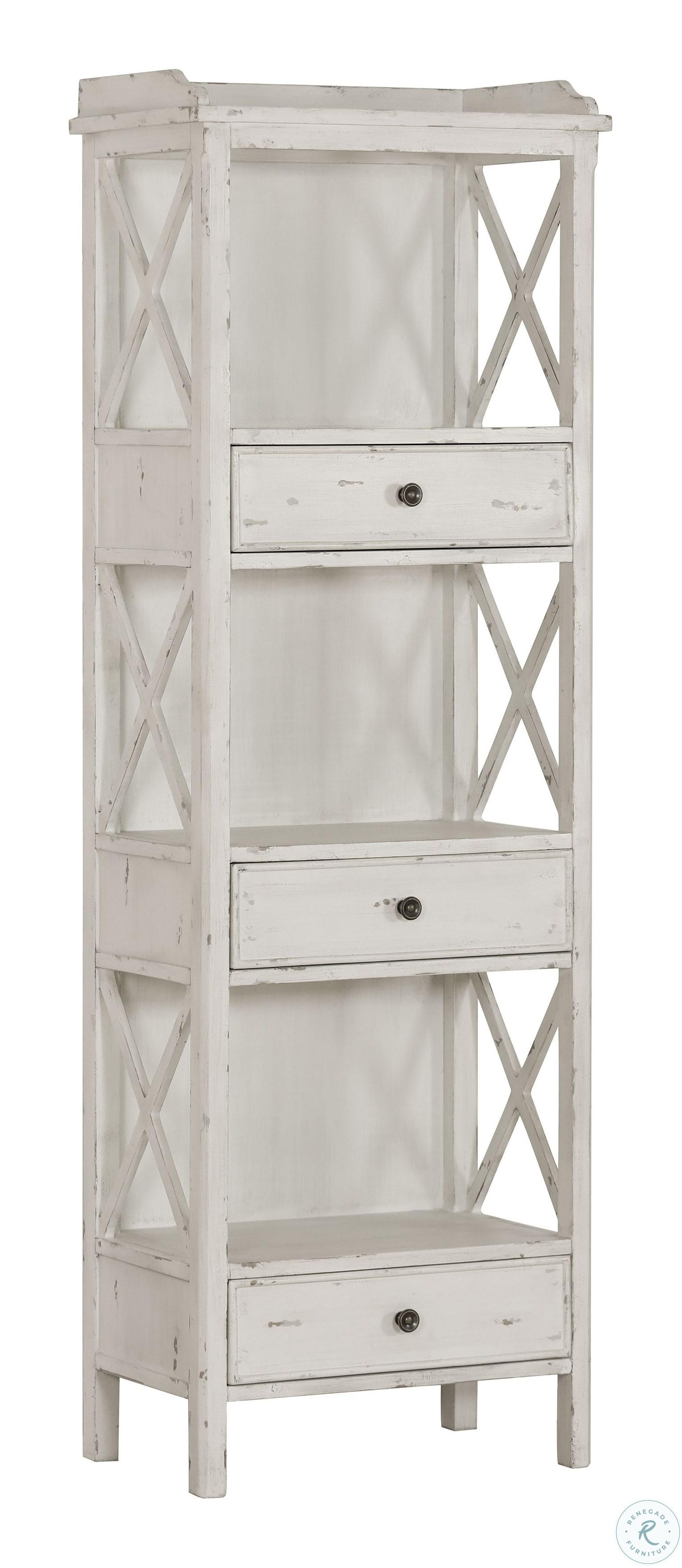 Weathered White Bookshelf From Pulaski Coleman Furniture