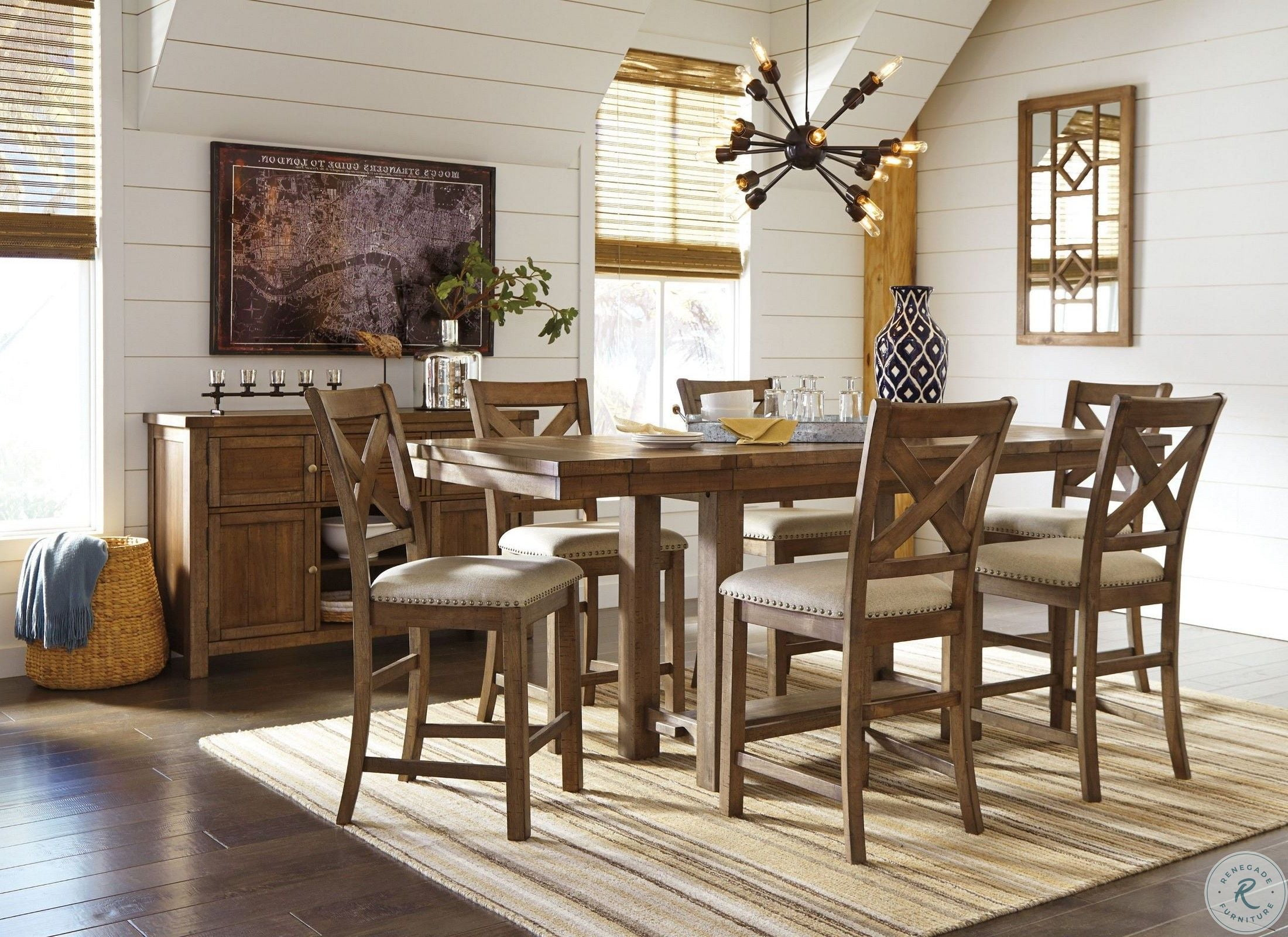 dining table decor ideas.htm torjin brown and gray long counter height dining room set from  torjin brown and gray long counter