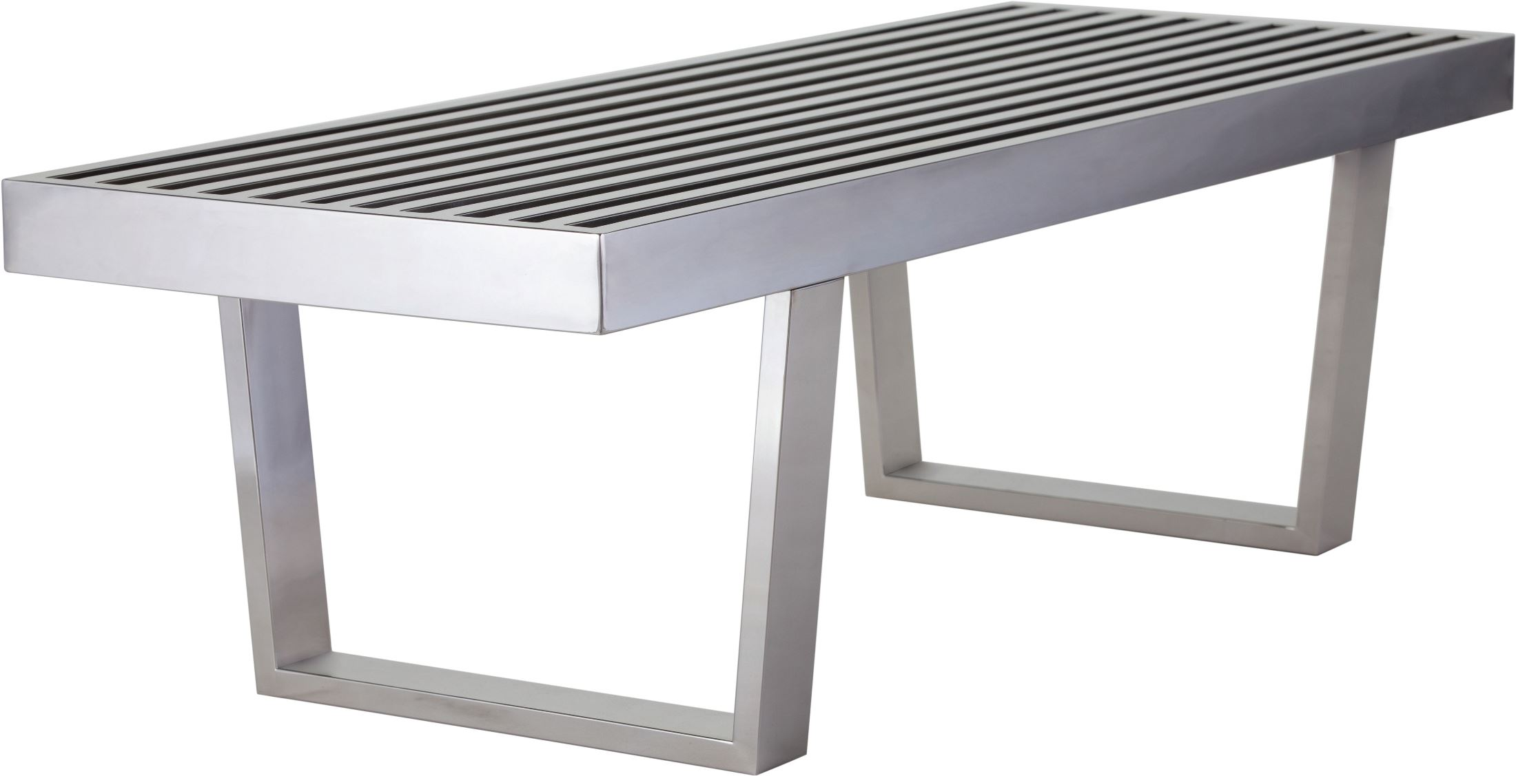 Super Zoey 48 Silver Metal Outdoor Occasional Bench Gmtry Best Dining Table And Chair Ideas Images Gmtryco