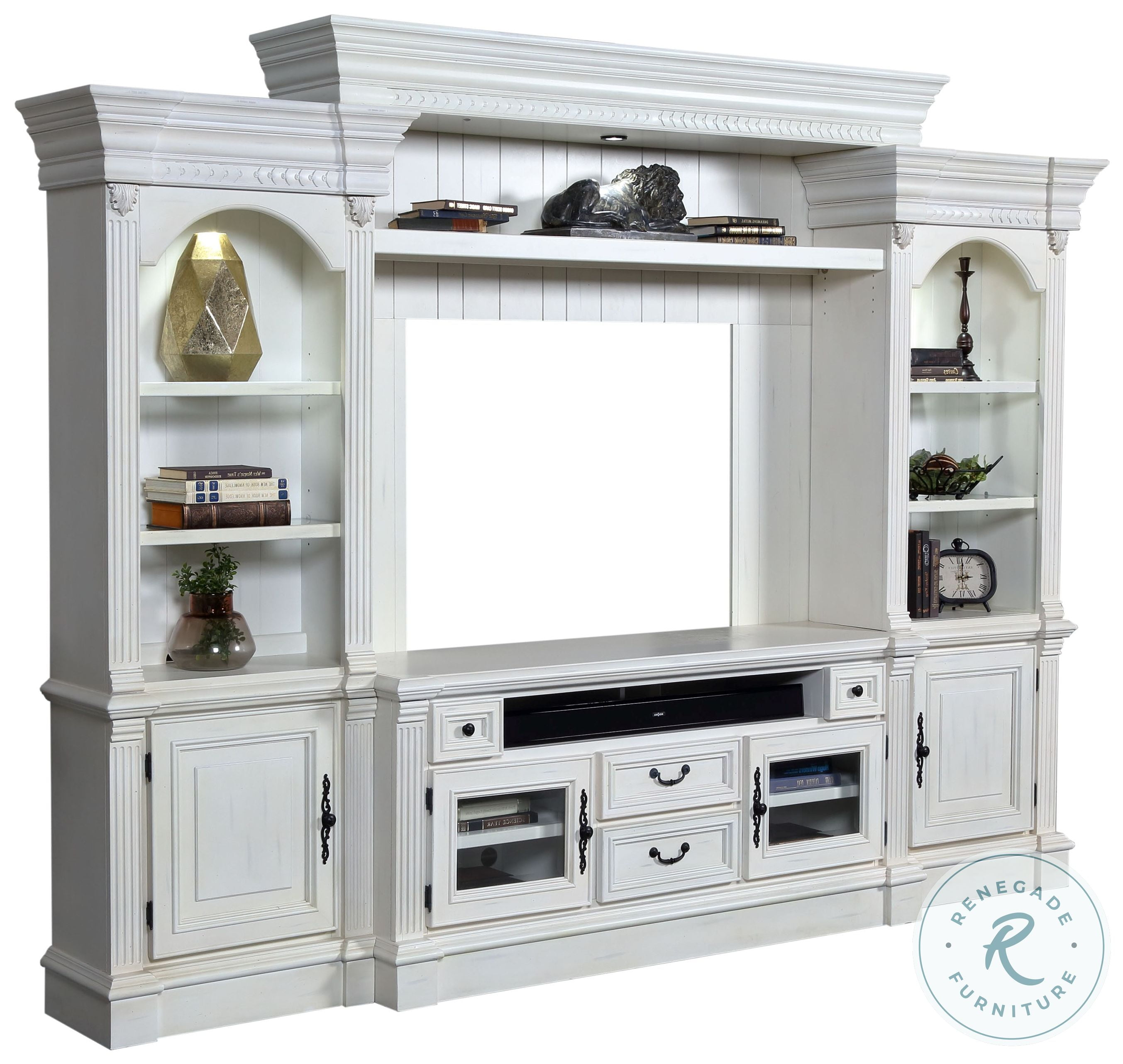h and m home decor.htm tidewater vintage white 62  entertainment wall from parker house  tidewater vintage white 62
