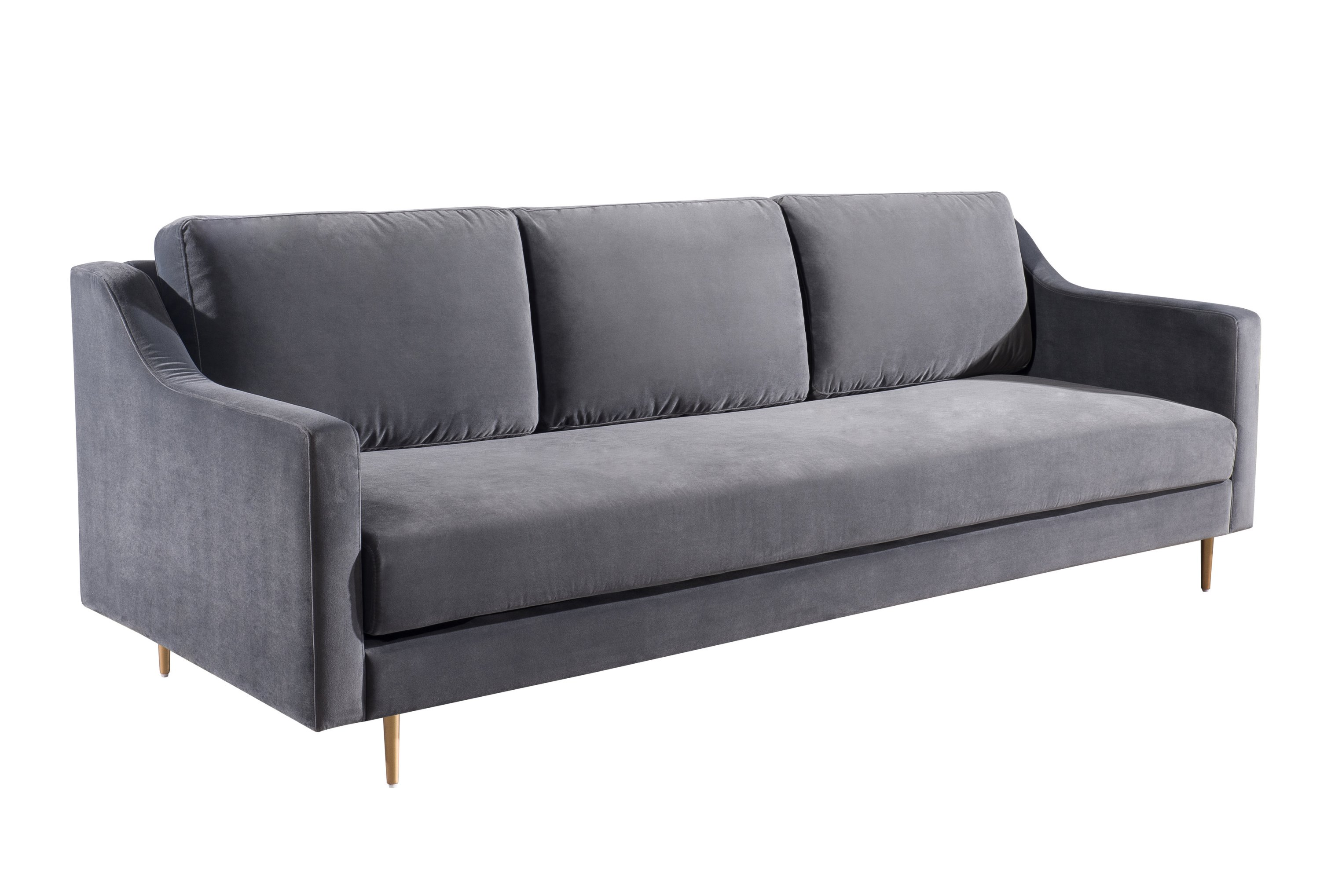 Milan Black Velvet Sofa from TOV | Coleman Furniture