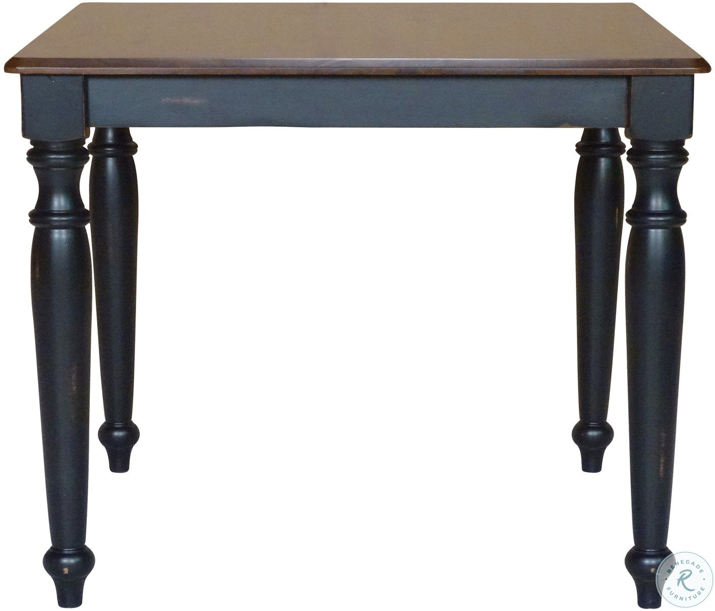 Bridgeport Aged Ebony and Espresso Square Dining Table from John ...