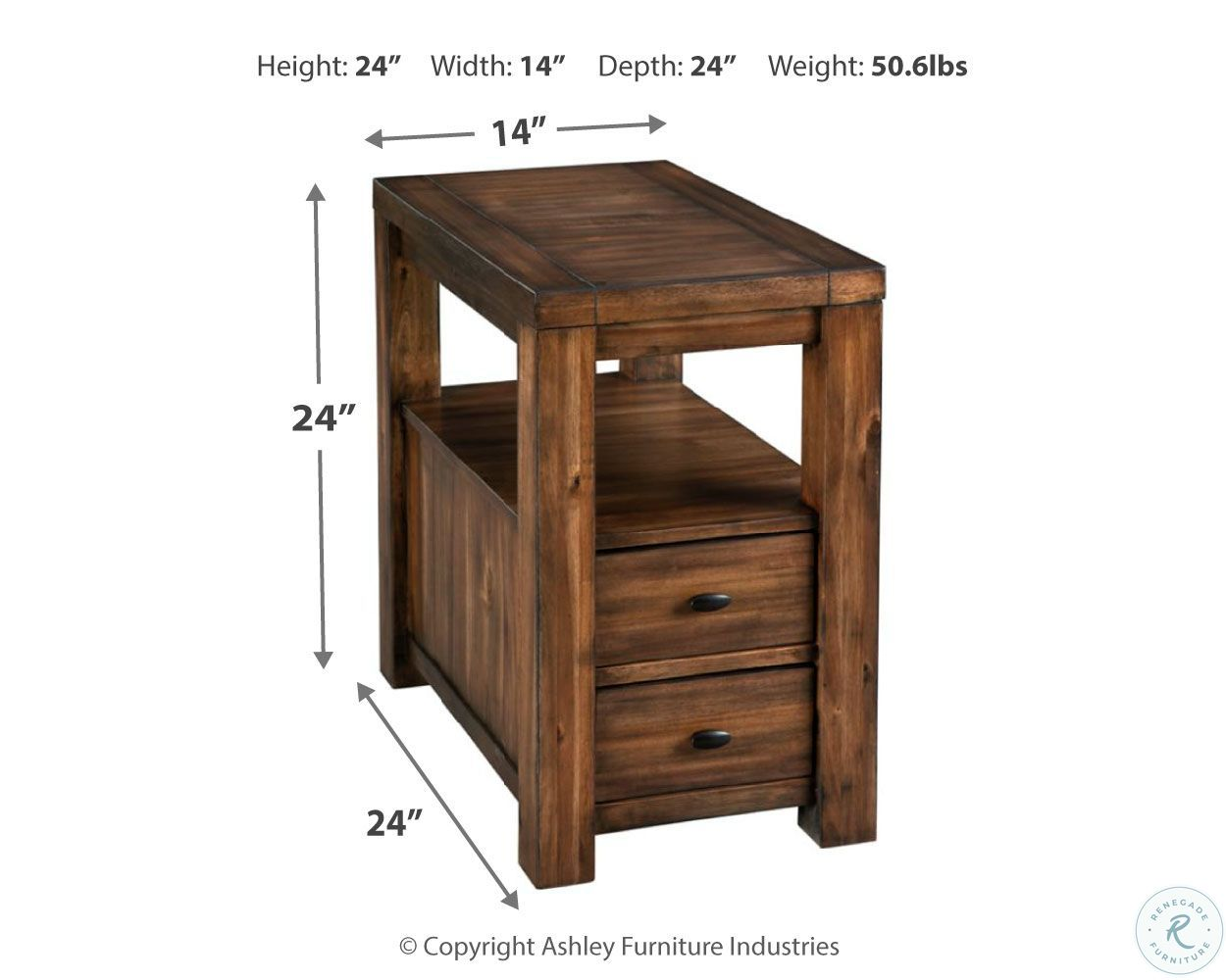 Marleza Brown Chairside End Table From Ashley Coleman Furniture