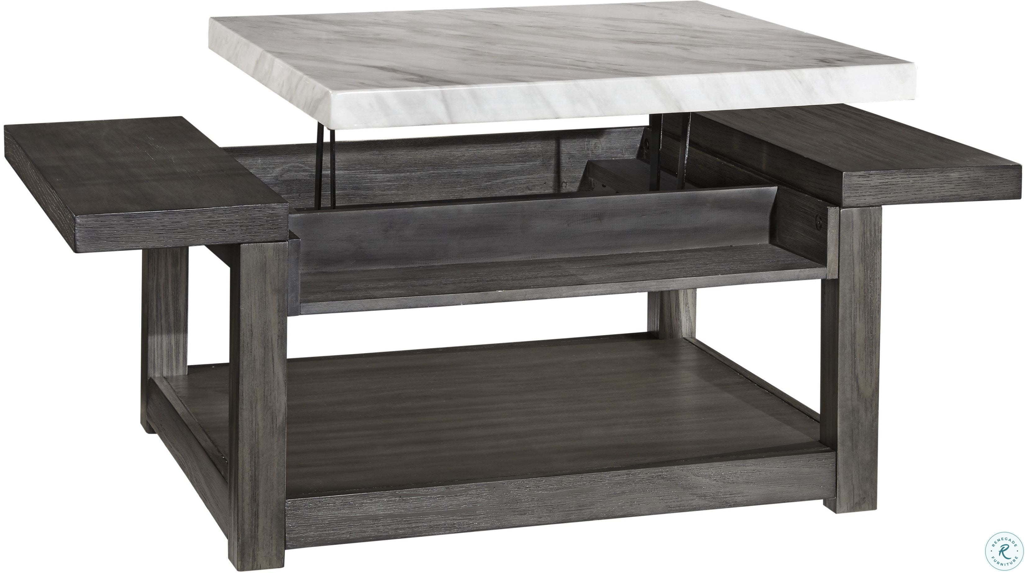 Vineburg Gray And White Coffee Table Lift Top From Ashley