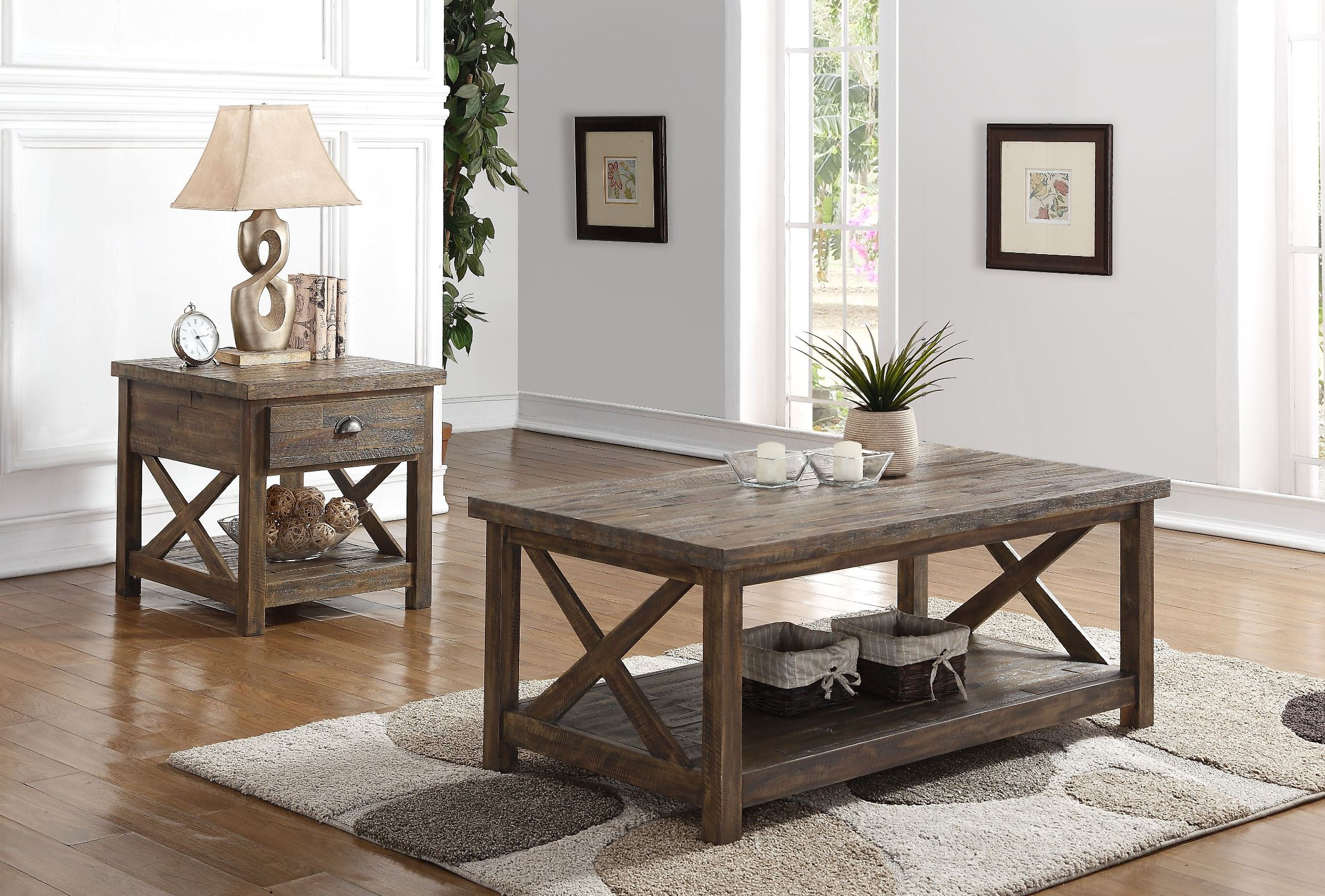 Image Of Item Tuscany Park Vintage Gray Occasional Table Set