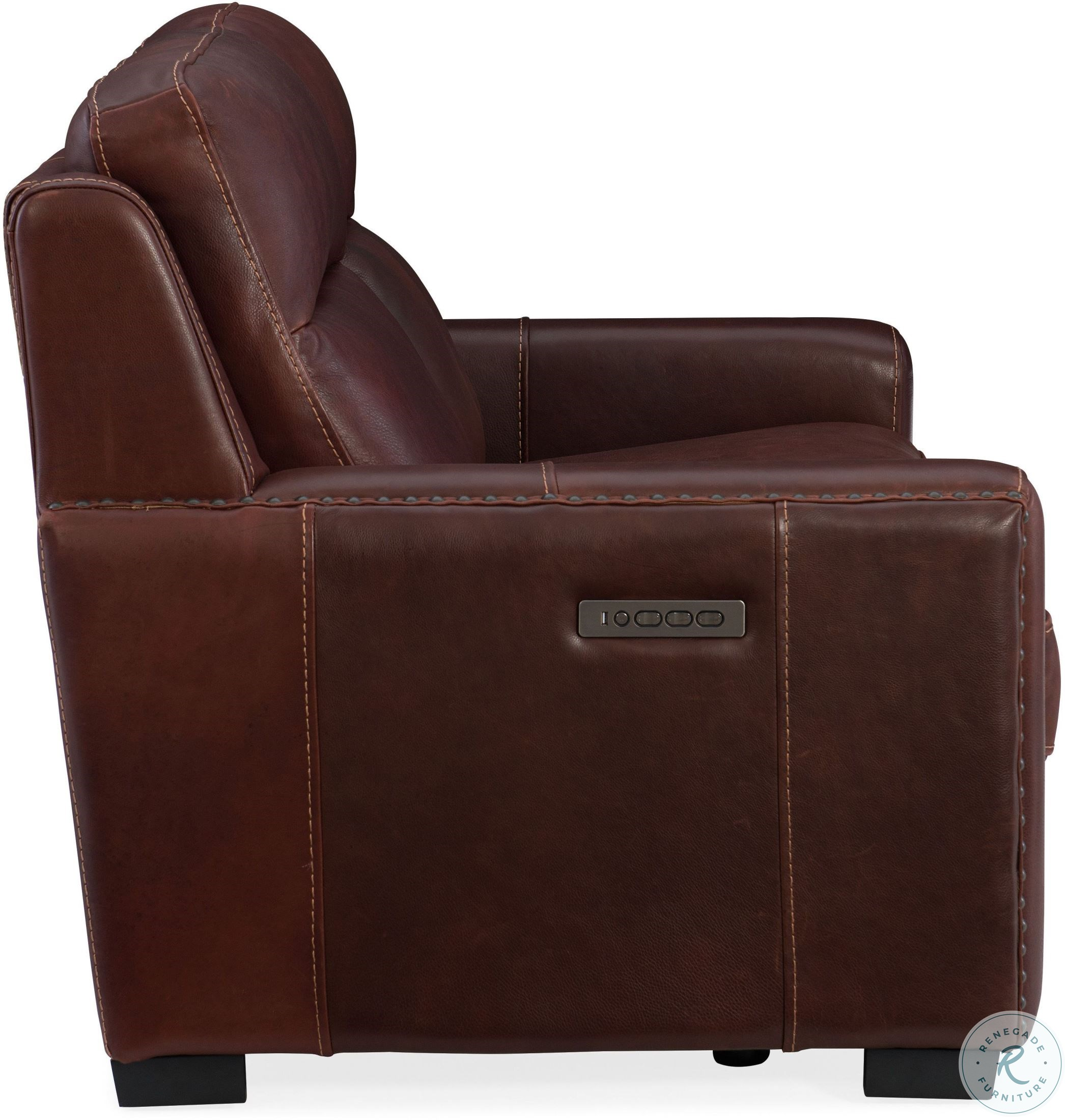 Admirable Aviator Chaldan Rust Leather Leather Power Reclining Loveseat With Power Headrest And Power Lumbar Caraccident5 Cool Chair Designs And Ideas Caraccident5Info